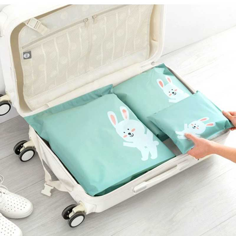 Hoomall 1PC Clothing Shoes Bags Closet Underwear Shoes Sorting Bag Travel Pouch Portable Storage Bag Waterproof Rabbit Printed