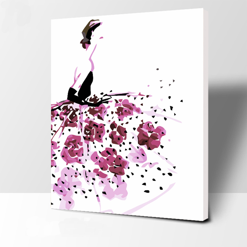 The people veil number Oil Painting Wall Pictures For Living Room Canvas abstract Digital painting No frame Home Decoration in Paint By Number from Home Garden