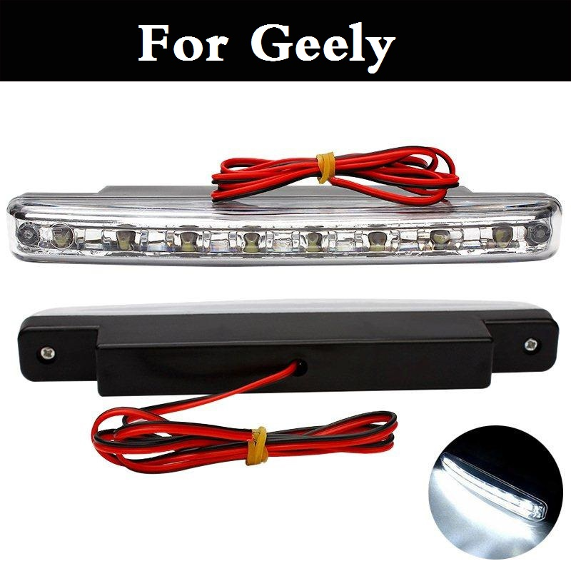 2017 DC 12V LED Daytime Driving Light DRL Car Fog Lamp For Geely FC (Vision) GC6 9 Haoqing LC (Panda) Cross MK MR Otaka SC7 geely mk cross mk cross car wheel sticker car accessories