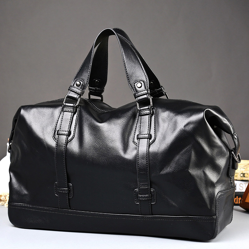 Waterproof Men Handbag Large Capacity Travel Bags PU Leather Luggage Messenger Laptop Bag Casual Tote Bag Vintage Male Briefcase pro biker motorcycle saddle bag pattern luggage large capacity off road motorbike racing tool tail bags trip travel luggage