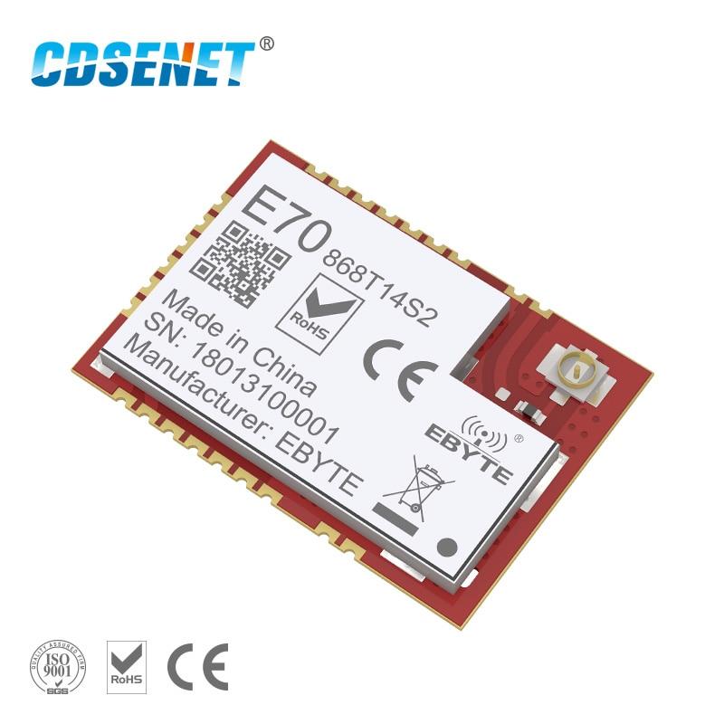 Беспроводной радиочастотный модуль CC1310, 868 МГц, CDSENET, E70-868T14S2, iot, 25 МВт, приемопередатчик SMD UART, радиочастотный приемник, 868 МГц, модуль soc