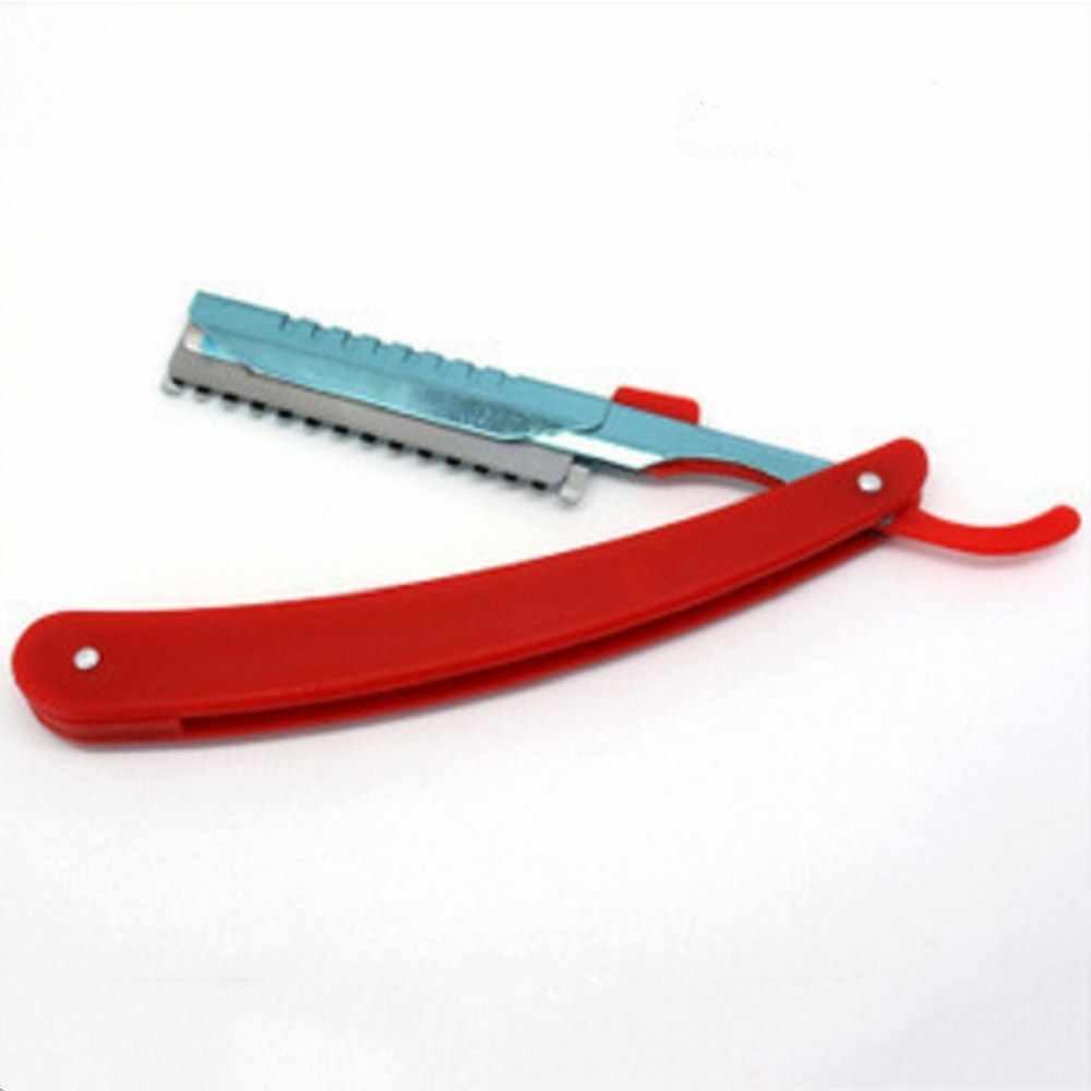 دليل ماكينة حلاقة المهنية مستقيم حافة الفولاذ المقاوم للصدأ شارب شفرة حلاقة للطي الحلاقة حلاقة اللحية القاطع حامل (لا شفرة)
