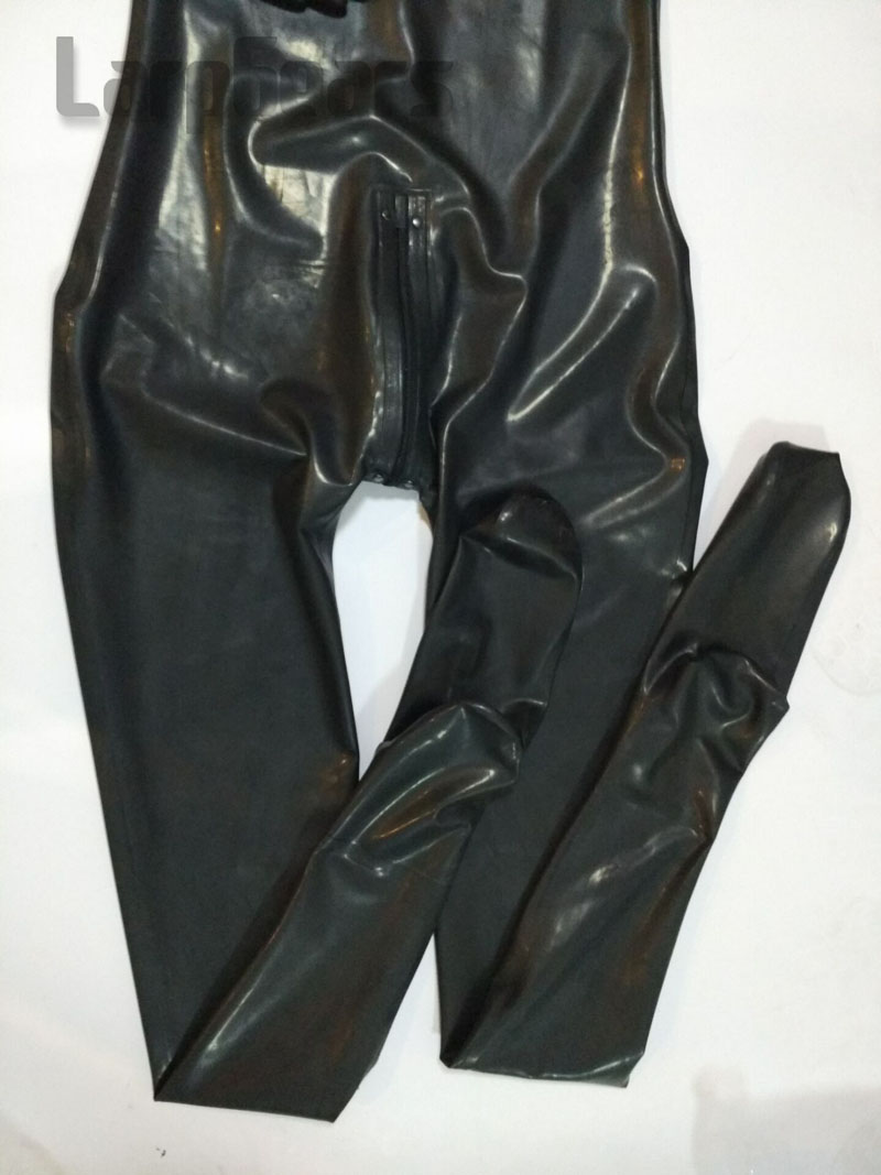 Man full cover latex catsuit with hood and socks, gloves plus size custom made