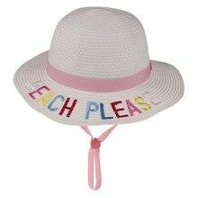 Kid Panama Hat Fedora  Sun flat brim Newly Engaged Gift Mrs Beach Honeymoon Bride straw