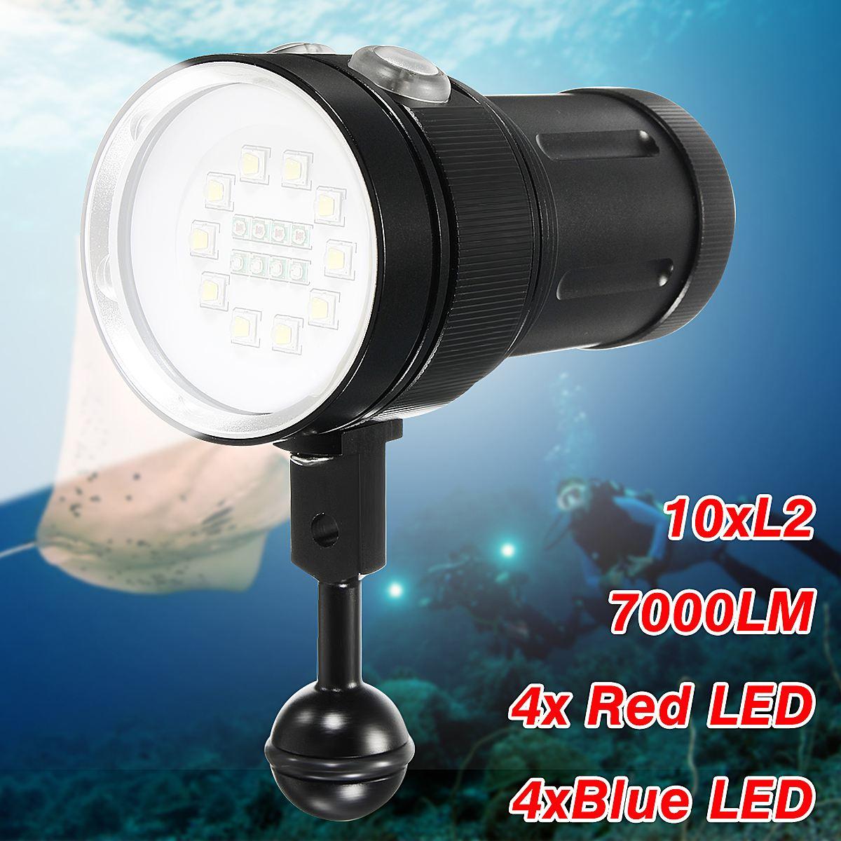 Smuxi 20000 LM Waterproof Diving 18650 Flashlight Protable Super Bright Underwater Torch For Diving Photographing Video зарядное устройство protable 5600mah 5v usb 18650 diy no
