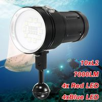 Smuxi 20000 LM Waterproof Diving 18650 Flashlight Protable Super Bright Underwater Torch For Diving Photographing Video