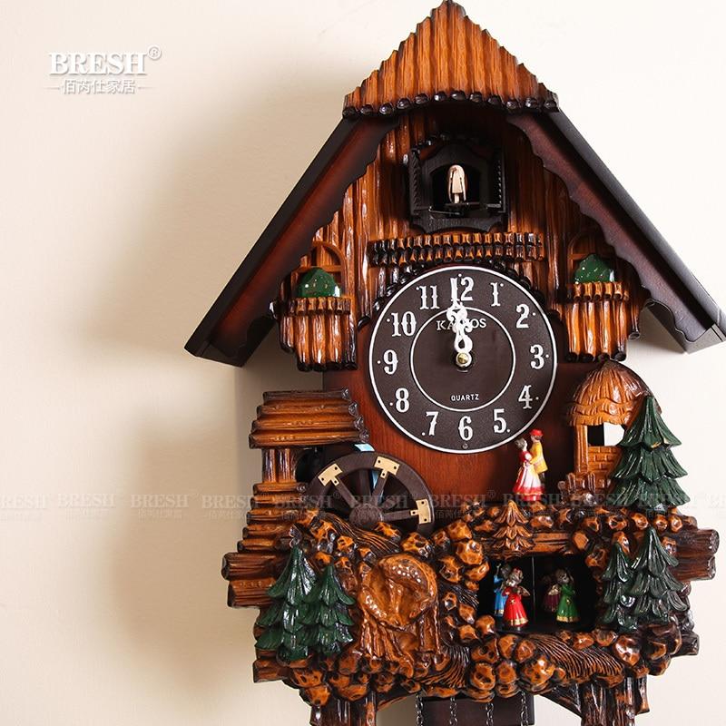 Korea KAIROS Keller wire cuckoo cuckoo clock European pastoral ...