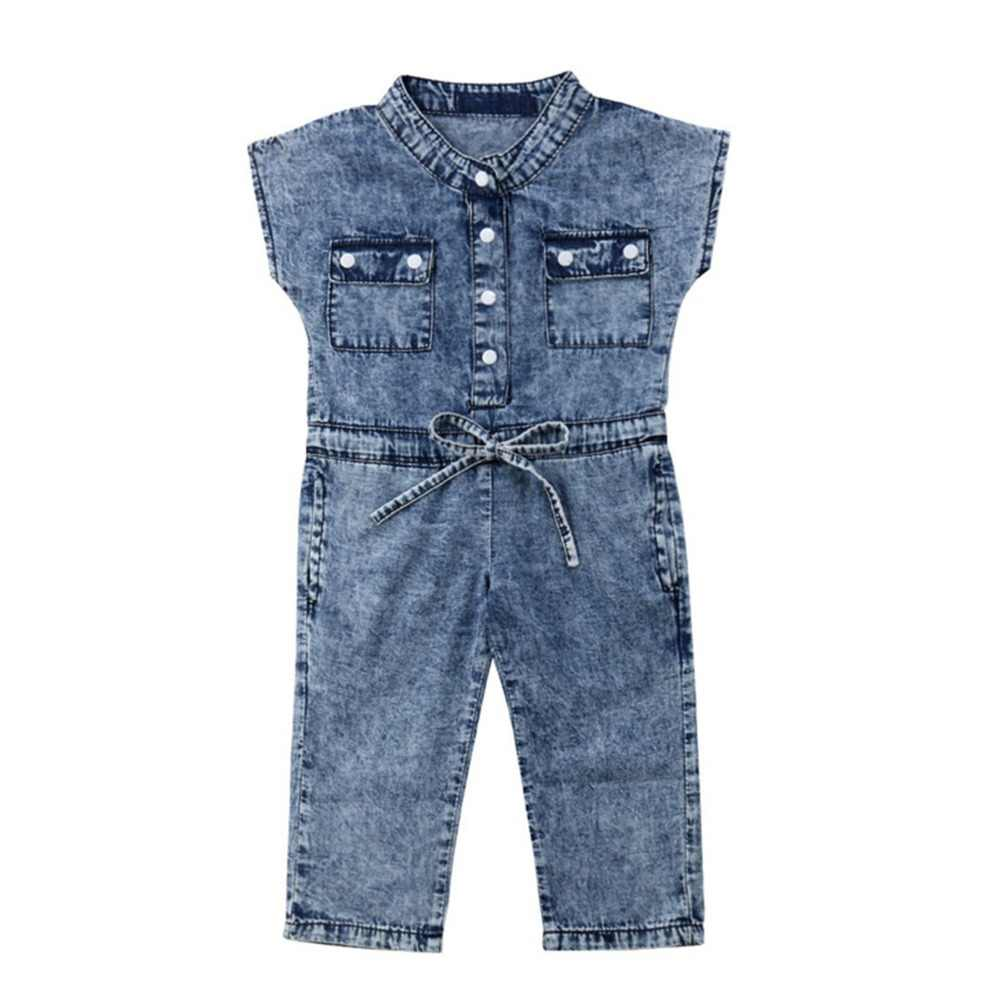 bd71d3266646 Summer Toddler Baby Kids Girls Clothes V-neck sleeveless Button pocket  Romper newborn cotton Geometry