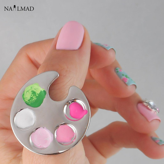 Aliexpress.com : Buy Nail Art Ring Palette Free Hand Manicure Finger ...