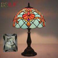 Fashion Design Türkische Mosaik Lampen E27 Basis Handgemachte Glas Lampsahde Schlafzimmer Nacht Vintage Tisch Lampe Leuchten-in Tischlampen aus Licht & Beleuchtung bei