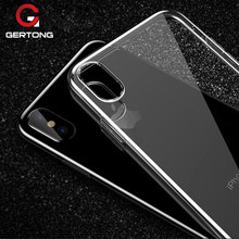 GerTong Hoge Clear Thin TPU Telefoon Case Voor iPhone XR XS Max X 8 7 6 s 6 s Plus 5 5 s SE 4 4 s Zachte Siliconen Cove Beschermende Shell(China)