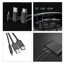 HDMI USB DC 3 en 1 Cable para HTC vive VR auriculares casco cable VR accesorios, servicio de envío rápido