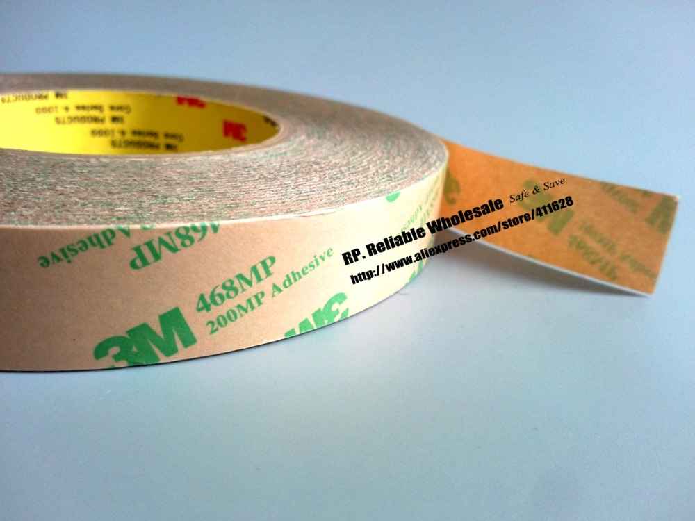 (59mm *55 Meters *5.2mils) 3M 468MP Double Sided Pure Adhesive Film Tape, Hi-temp Resist, Complete Switch To Equipment Surface