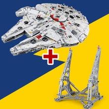 Лепин 05132 Новый Ultimate коллекционера прослужит серии Star Wars Строительные блоки кирпичи Ucs Сокол Тысячелетия LegoINGlys 75192