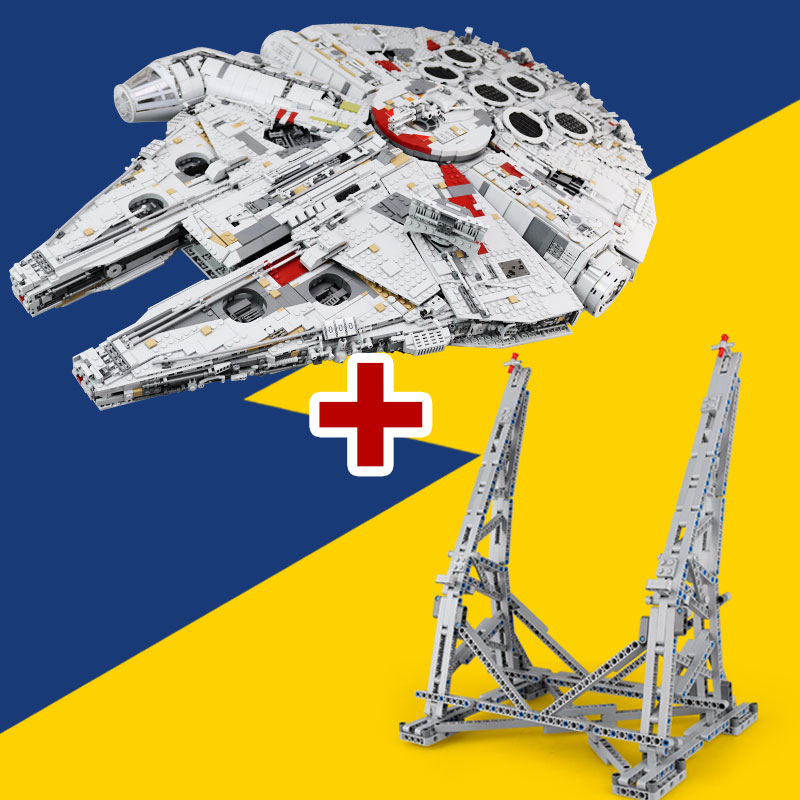 Lepin 05132 New Ultimate collector Destruidor da Série Star Wars Blocos Tijolos Ucs Millennium Falcon LegoINGlys 75192