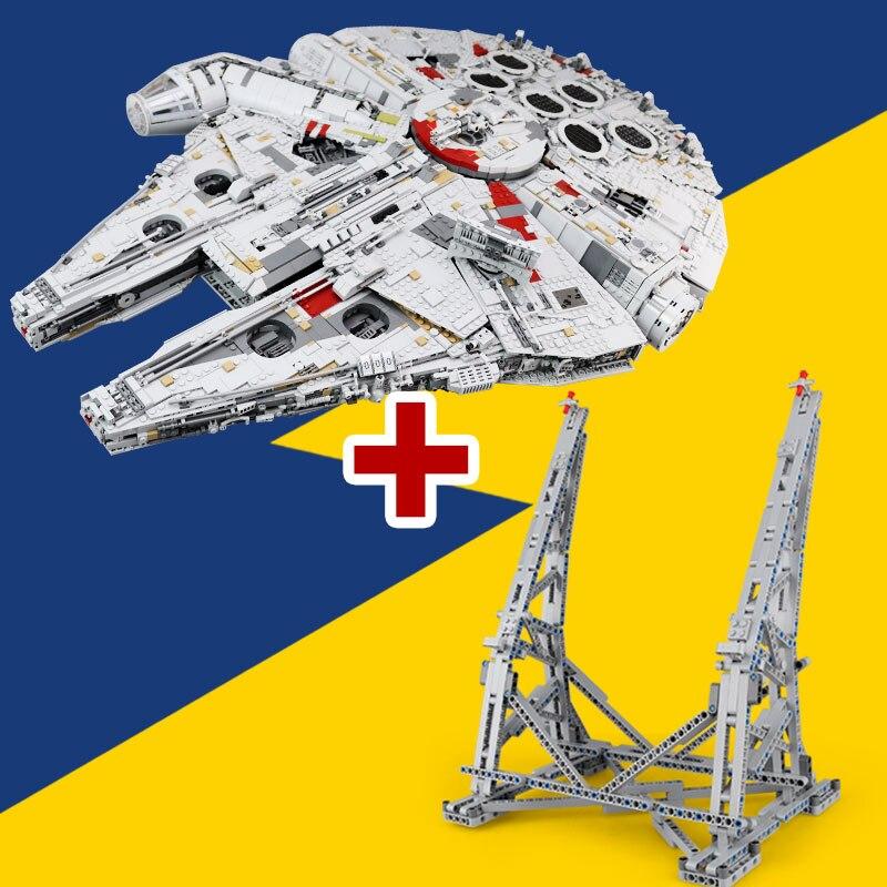 Lepin 05132 nouveau destructeur de collection ultime série Star Wars briques de construction Ucs millénium Falcon LegoINGlys 75192