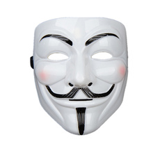 Party-Masks Guy Fawkes Anonymous Costume-Accessory Dress Fancy Adult V