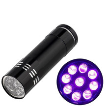 2017 UV Ultra Violet 9 LED Flashlight AAA for Nail-painting Penlight Torch Light Lamp Free Shipping NOA28 P2B