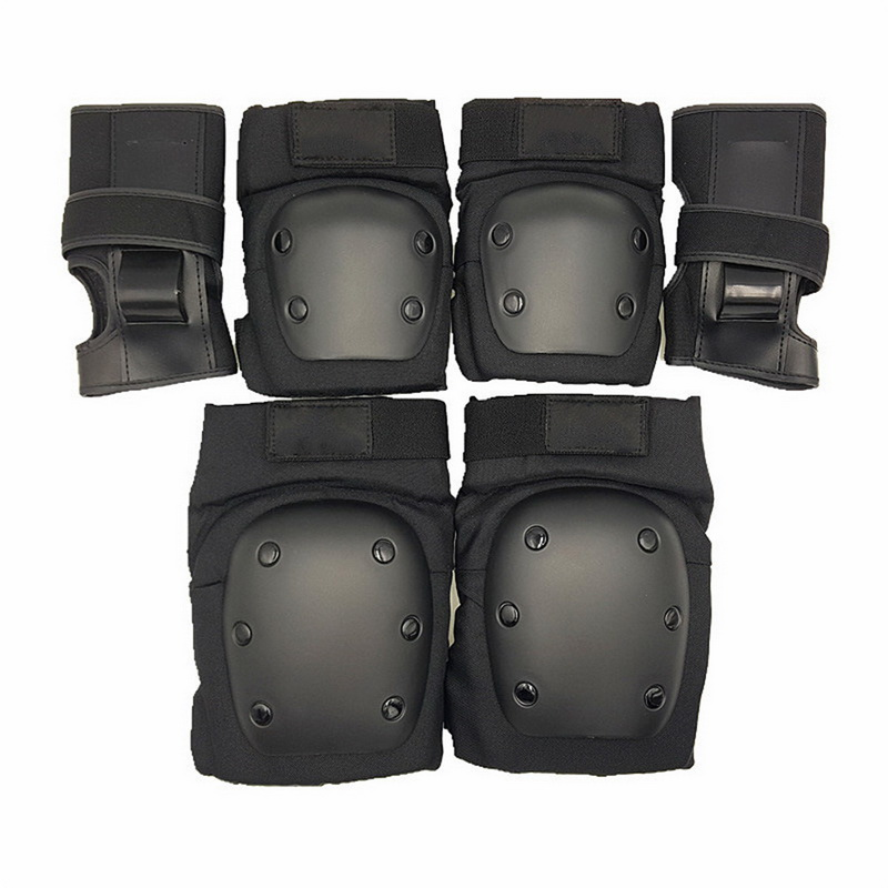6 PCS Set Child Youth Adults Safety Protective Gear Adjustable Knee Elbow Pads Wrist Brace For Cycling Skating Rollerblading