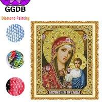 GGDB 5D DIY Diamond Embroidery Religious Icon Of Religion Diamond Painting Virgin Madonna Jesus Art Handicraft