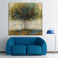 Oil Painting Big Size Canvas Painting Oil Painting Abstract Poster on Canvas Wall Art for Home Decor Green Tree Canvas Pictures