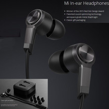 Original Xiao mi Stereo Piston V In-ear Earphone black color earphone With Remote Mic with retail box for xiaomi samsung