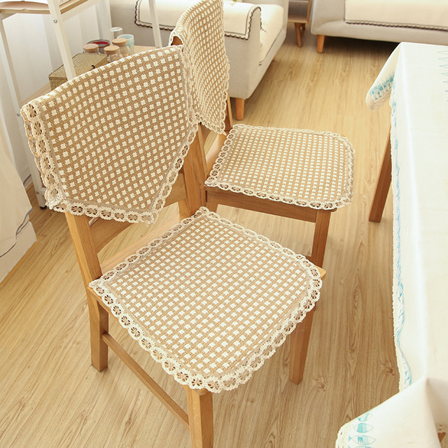 Cotton Thread Woven Seat Cushion Chair Cushion Simple American Country Non Slip  Cushion Suit Cotton