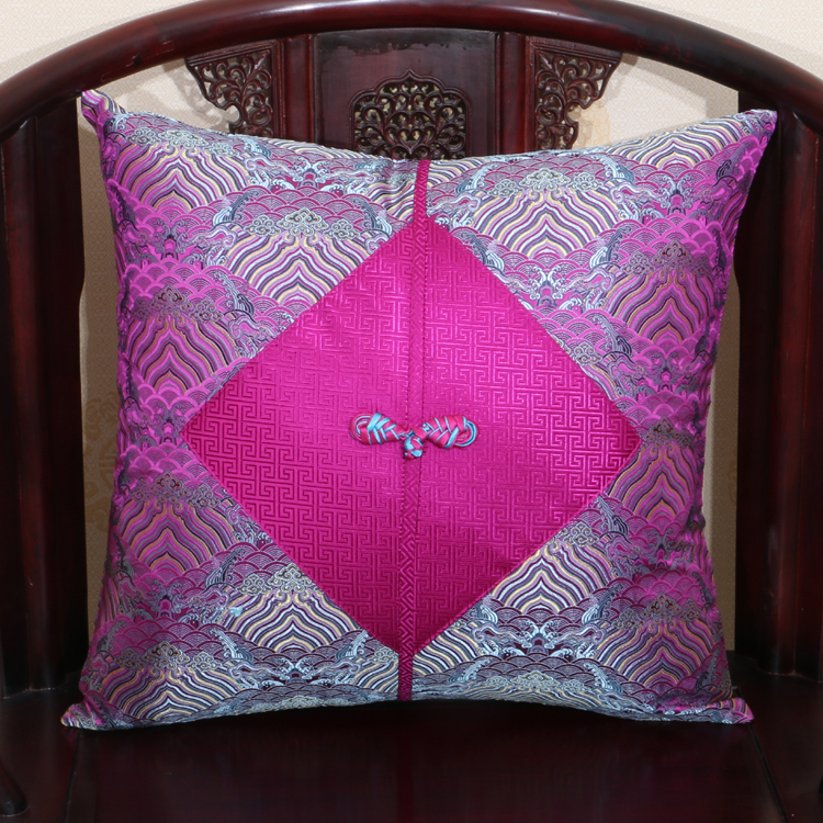Patchwork Chinese Knot Natural Mulberry Silk Pillow Case