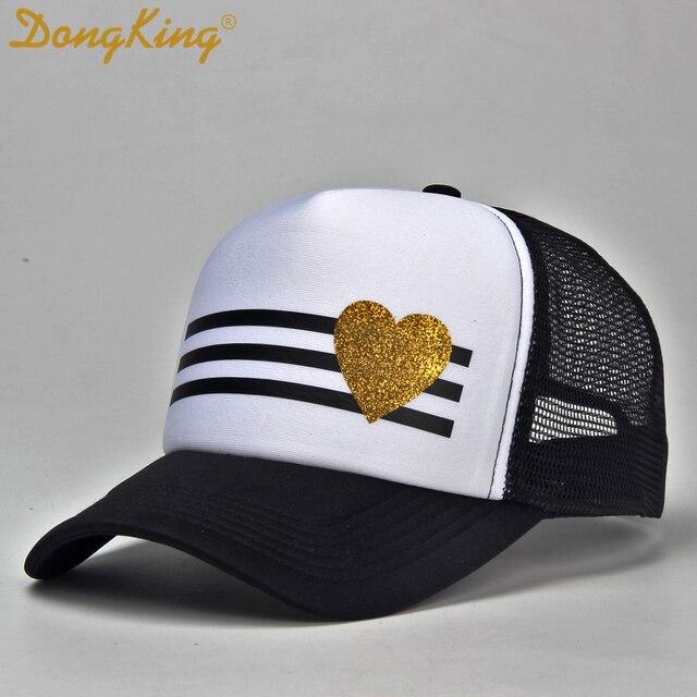 2177f91bfccc5 Dongking Glitter corazón adultos camionero moda Hey usted sombrero novia  regalo romántico parejas sombreros adultos niños