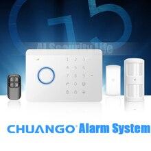 Chuangkesafe Caliente 315 Mhz CHUANGO G5 GSM SMS Inicio Seguridad Antirrobo Sistema de Alarma Del Panel de Control