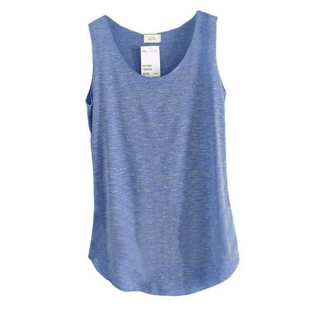 Womens Loose Bamboo Cotton Tank T-Shirt