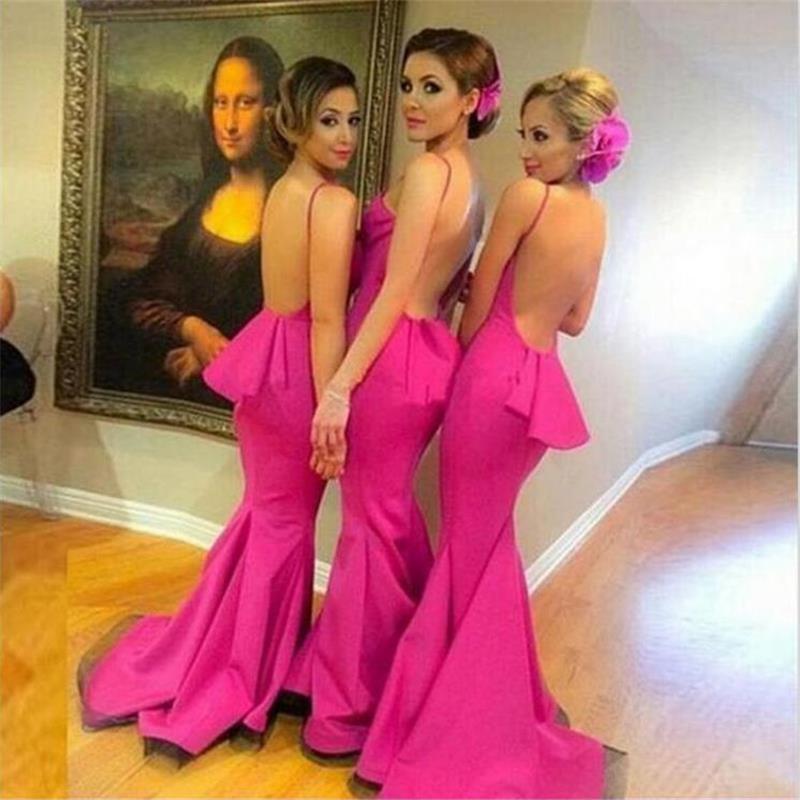Asombroso Vestidos De Dama De Honor Fucsia Baratos Elaboración ...