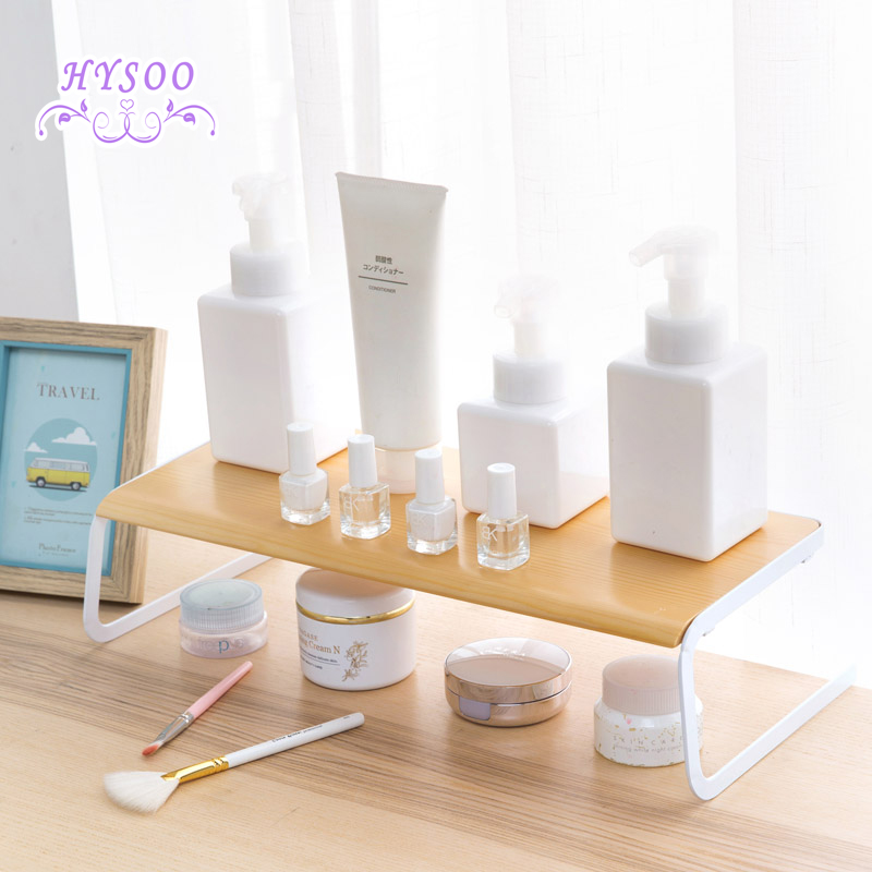 Desktop Storage Shelf Bathroom Cosmetic Shelf Student Dormitory Desk Shelf  Kitchen Bedroom Shelf(China (