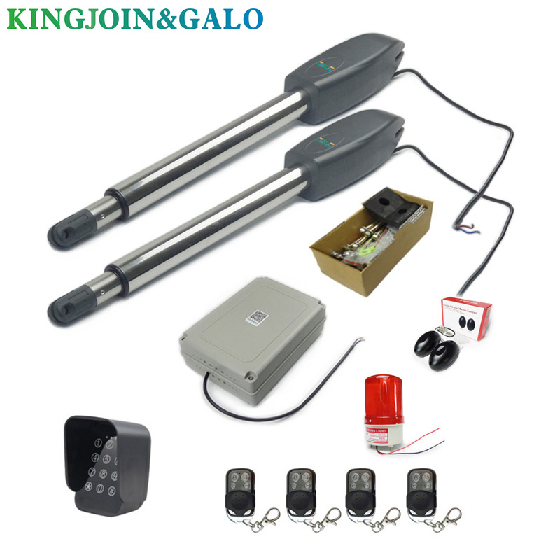 DC24V AC220V Linear Actuator Worm Gear Automatic Swing Gate Opener (photocells, Lamp,button,gsm,keypad Optional)