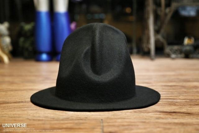 Women Men 100% wool Vivianwestwood Fedora hat Felt Mountain Hat westwood Celebrity  Style Novelty Buffalo hat 355fab257b02