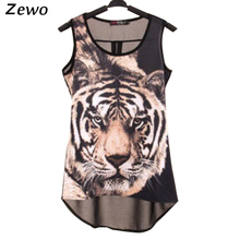 Zewo women's blouse fashion female sexy  vest Summer Women print Blouse O-Neck Shirt Women Clothing Lacing Bow Chiffon Blouse