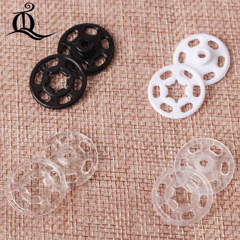 50ps Transparent black Invisible <font><b>Button</b></font> 7mm <font><b>10mm</b></font> 15mm 18mm 21mm Fasteners <font><b>button</b></font> DIY Clothing Sewing Accessories Coat <font><b>Button</b></font> Q25 image