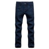 DZYS Мужская Толстая обирали повседневные джинсы теплые Прямые классические джинсы для мужчин мужской