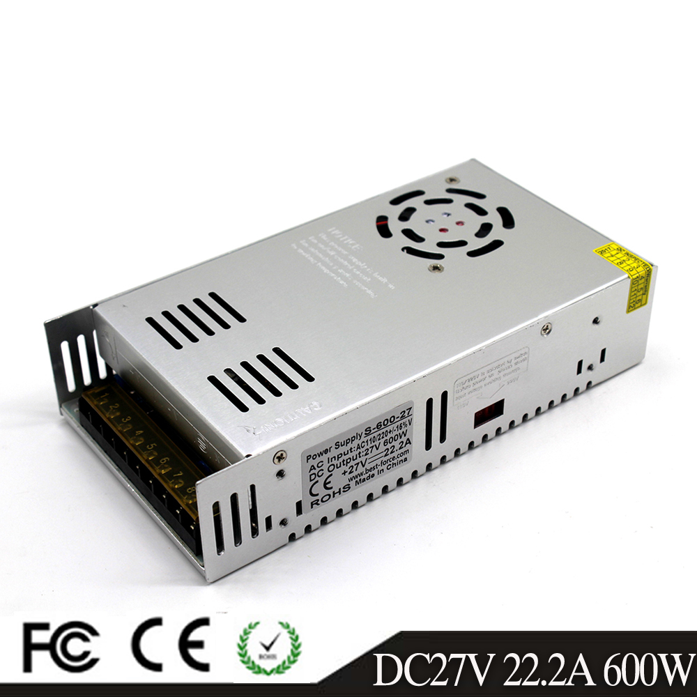 Single Output Switching power supply 600W 27V 22 2A Driver Transformers AC110V 220V TO DC27V SMPS