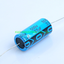 4pcs Axial Electrolytic Capacitor 33uf 500V for Tube Amplifier DIY цена и фото