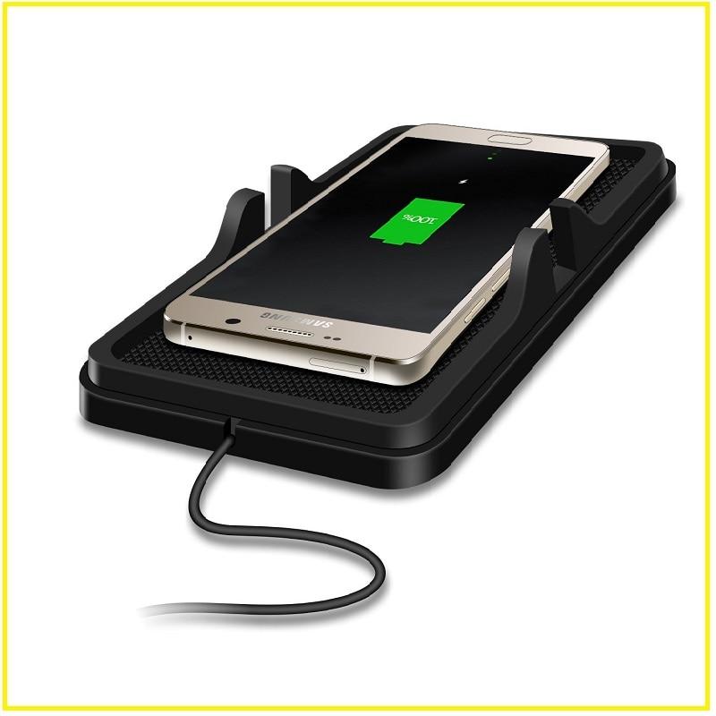 bilder für MLR Univesal Silikon Qi Auto Drahtlose Handy-ladegerät Halter Für Samsung S7Edge/S6 NOTE5/Iphone 6 s plus
