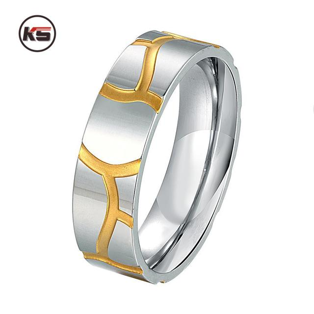Edelstahl Silber Halb Herz Einfacher Kreis Real Love Paar Ring