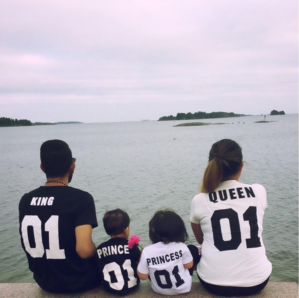 HTB1HUozOFXXXXc5XVXXq6xXFXXXe - King 07 Queen 07 Prince Princess Newborn T shirt PTC 20