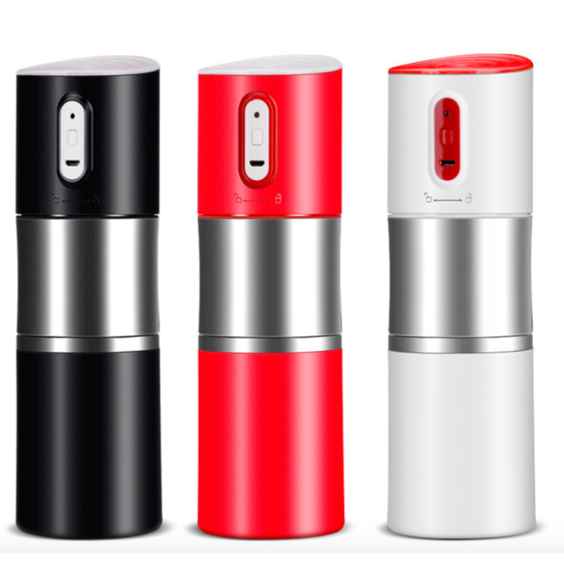 High Level Capsule coffee maker with automatic grinder Ceramic Filter Stainless Steel USB Charger Coffee Cup 400ml automatic self stirring mug stainless steel coffee cup