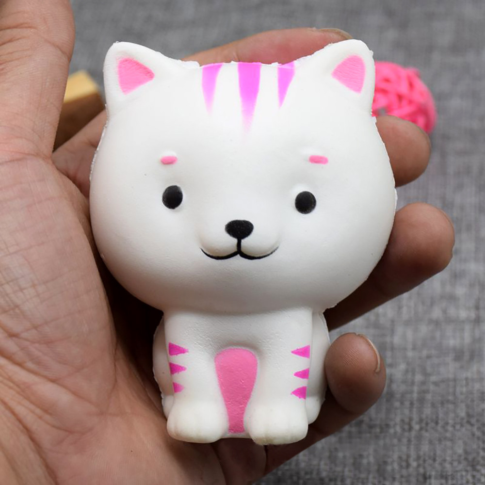 Squishy And Slime Scammer : 4 TYPE Cute Kitten Squishy Decor Slime toys Slow Rising Kid Squeeze Relieve Anxiet Gift Toys ...