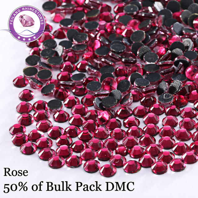 Wholesale Color Rose Hotfix Rhinestones Flatback Strass For Clothing Accessories DIY Decoration Iron On Stones Crystal