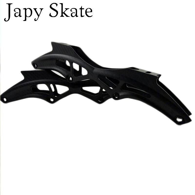 Prix pour Jus japy Skate Vitesse En Fiber de Carbone Patins À Roues Alignées Cadres 195mm Distance 4*110mm Roues Course De Patinage Base Pour de Vitesse Powerslide Patins