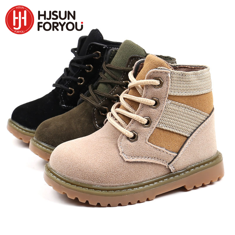 2020 New Style Plush Baby Girls Snow Boots Children Of Leather Fashion Sneakers Girls Boys Waterproof Martin Boots