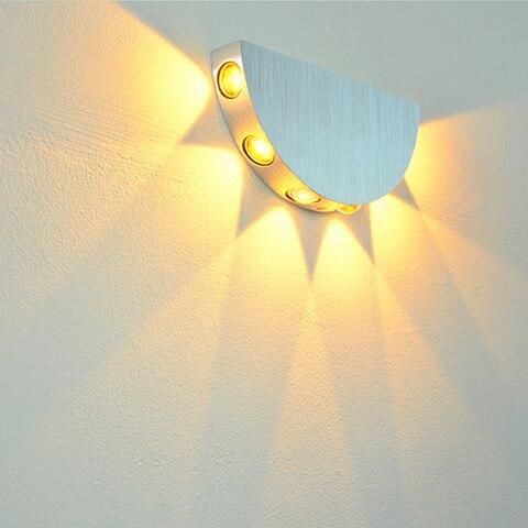 parede moderna arandela sala quarto corredor lampada