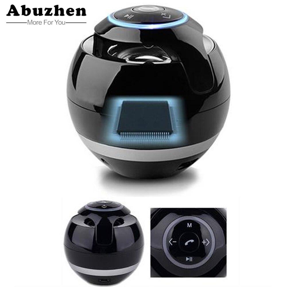 Abuzhen Altoparlante Mini Altoparlante Portatile Senza Fili Bluetooth Soundbar Bass Boombox della cassa di Risonanza con Il Mic Carta di TF Radio FM Led